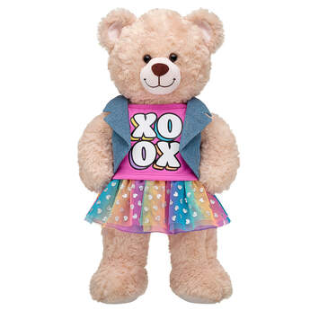 XOXO Rainbow Skirt Set - Build-A-Bear Workshop®