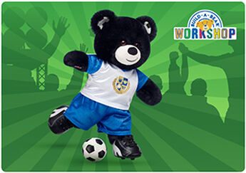 GOAL! Shoot and score with a special football E-Gift Card to Build-A-Bear Workshop!