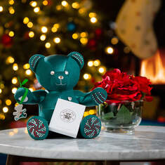 Online Exclusive Build-A-Bear Season's Sparklings Collectible and Ornament Decorated with Swarovski® crystals, , hi-res