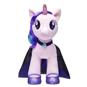Proud to be a Pony! Dress up your favorite MY LITTLE PONY or any other furry friend in this gorgeous indigo cape and matching collar necklace. With blue jewel embellishments, this STARLIGHT GLIMMER cape is a beautiful accessory that makes a perfect gift for MY LITTLE PONY fans. MY LITTLE PONY and all related characters are trademarks of Hasbro and are used with permission.© 2017 Hasbro. All Rights Reserved.