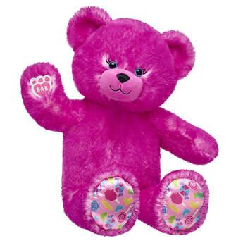 pink candy pop teddy bear sitting