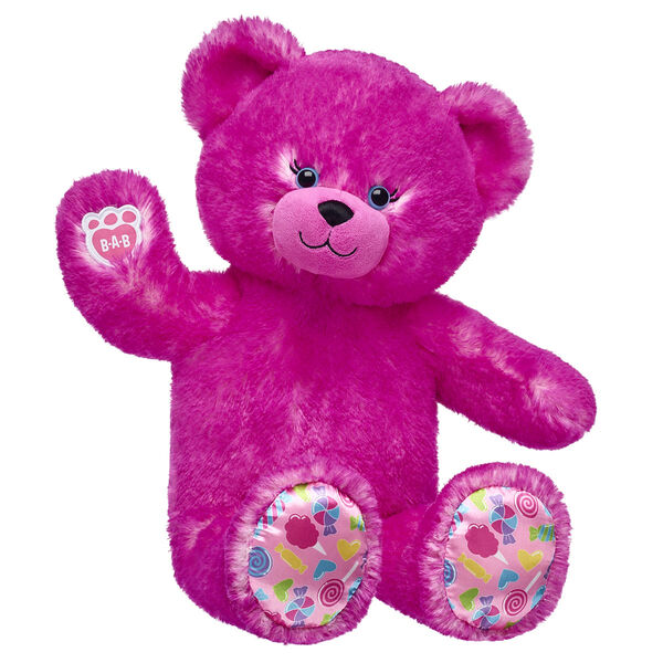pink candy pop teddy bear sitting