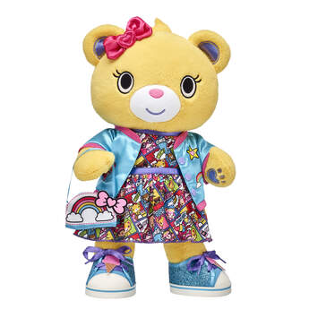 <ul>    <li>Kabu™ Bearnice</li>     <li>Kabu™ Comic Strip Dress </li>    <li>Kabu™ Blue Bomber Jacket </li>    <li>Kabu™ Ice Cream Sneakers</li>    <li>Kabu™ Rainbow Purse</li> </ul>