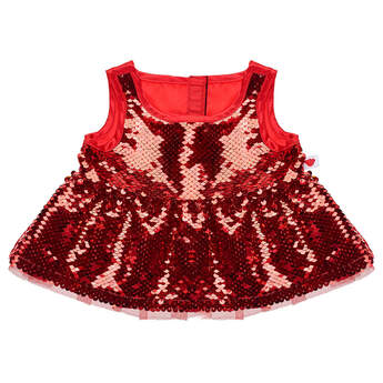 Flip Sequins Christmas Dress - Build-A-Bear Workshop®
