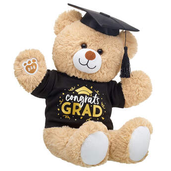 Online Exclusive Cuddly Brown Bear Congrats Grad Gift Set, , hi-res