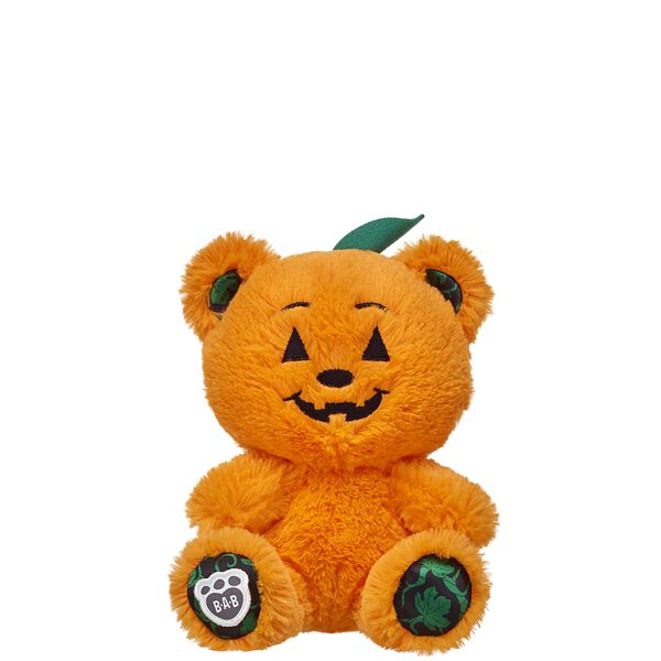 Get your chills and thrills this Halloween with this adorable Build-A-Bear Buddies™ Pumpkin Bear! This 8 in. teddy is bright orange with green pumpkin vines on its paw pads. This cute furry friend makes the perfect trick-or-treating companion! NOTE: Build-A-Bear Buddies only fit in Build-A-Bear Buddies clothing. This item cannot be purchased unstuffed, nor can stuffing adjustments be made. A sound or scent cannot be placed inside this pre-stuffed item.