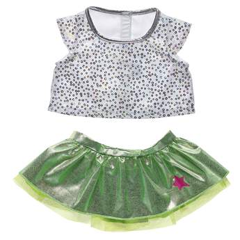 This Neon Skirt set is the perfect combination for the Honey Girls and all your furry friends! Shop the Honey Girls line at Build-A-Bear Workshop.