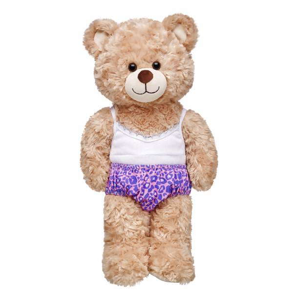 112335a8f51ac Pink Leopard Print Panties, , hi-res. Add a fun pair of leopard print  panties beneath your furry friend's dress. The teddy