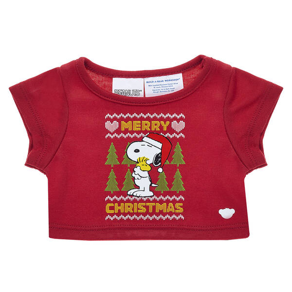 Online Exclusive Snoopy Christmas T-Shirt - Build-A-Bear Workshop®