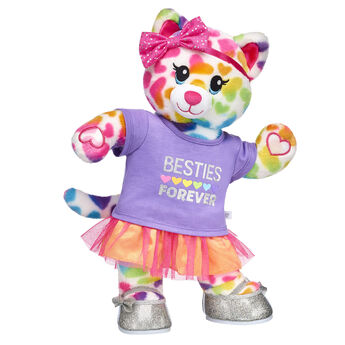Rainbow Friends Cat will be your bestie forever! This bright stuffed animal gift set is the PURRfect way to surprise someone special. This cat friend also has special paw pads that can attach to the paws of other Rainbow Friends animals so they can hug and hold hands! <p>Price includes:</p>  <ul>    <li>Rainbow Friends Cat </li>    <li>Besties Forever Skirt Set 2 pc. </li>    <li>Pink Sparkle Bow </li>    <li>Silver Sparkle Bow Flats</li> </ul>