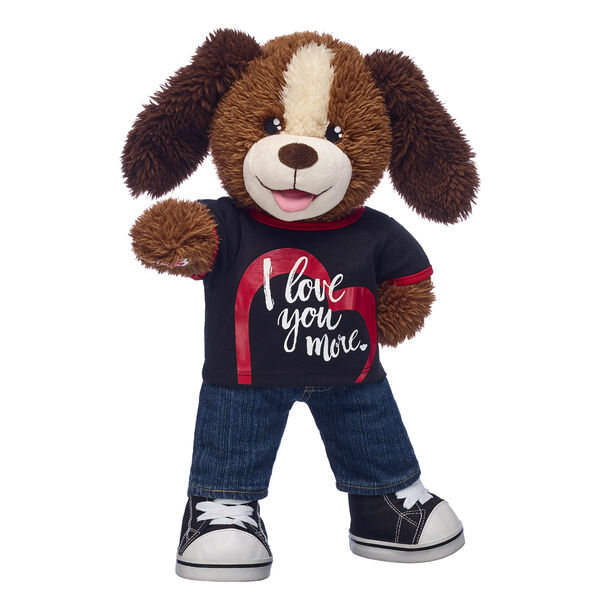 dog stuffed animal with i love you t shirt and jeans valentines day gift set