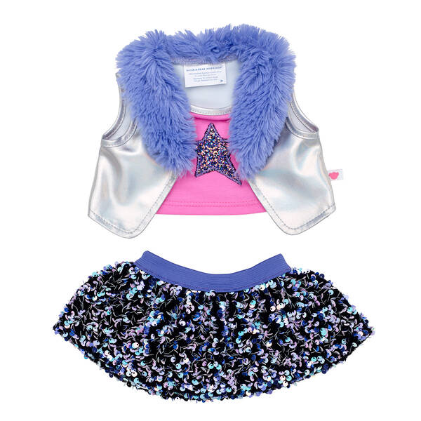 Iridescent Vest & Sequin Skirt Set 2 pc. - Build-A-Bear Workshop®