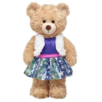 Honey Girls Purple Sequin Dress 2-Fer - Build-A-Bear Workshop®