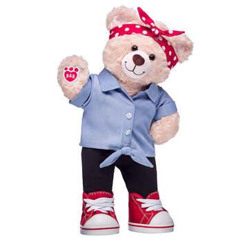 Online Exclusive Happy Hugs Teddy Rosie the Riveter Gift Set, , hi-res