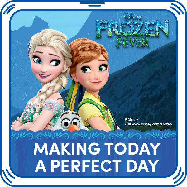 """Frozen Fever is here! Add the song """"Making Today A Perfect Day"""" to any furry friend. © DisneyWords and Music by Robert Lopez and Kristen Anderson-Lopez © 2015 Wonderland Music Company, Inc. (BMI) All Rights Reserved. Performed by Elsa. Courtesy of Walt Disney Records."""