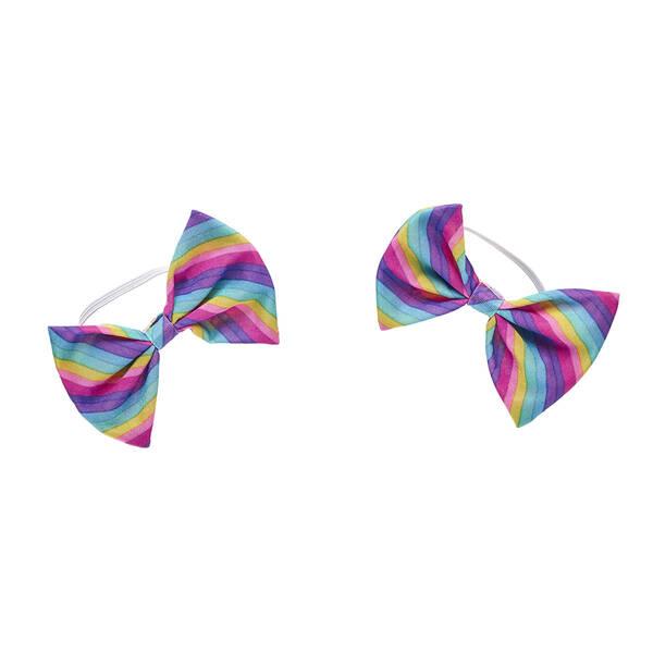 Rainbow Stripe Ear Bows