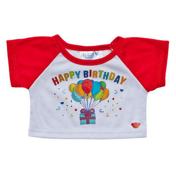 Red Happy Birthday T-Shirt, , hi-res