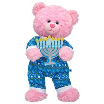 Pink Cuddles Teddy Hanukkah Gift Set, , hi-res