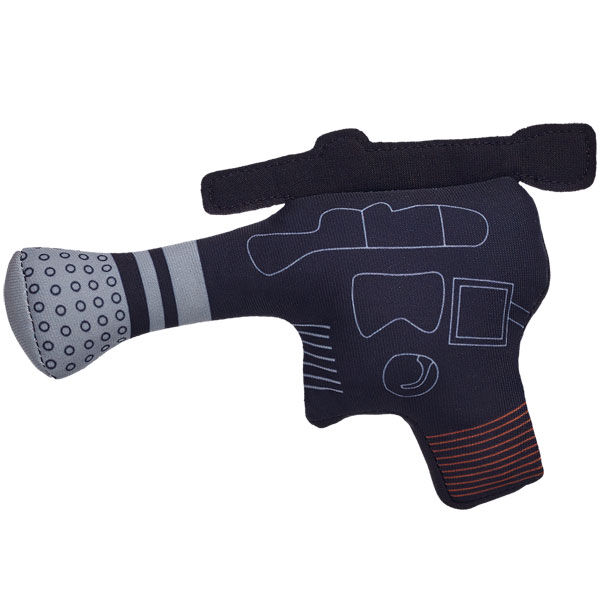 Complete your Star Wars friend with a Han Solo Blaster. This plush pistol is Han Solo's weapon of choice. & ™ Lucasfilm Ltd.