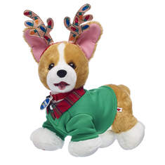 This Promise Pets™ Corgi stuffed animal gift set makes a doggone special gift for anyone this holiday! This cute lil' puppy comes with a red and green shirt and a Christmas lights antlers headband!