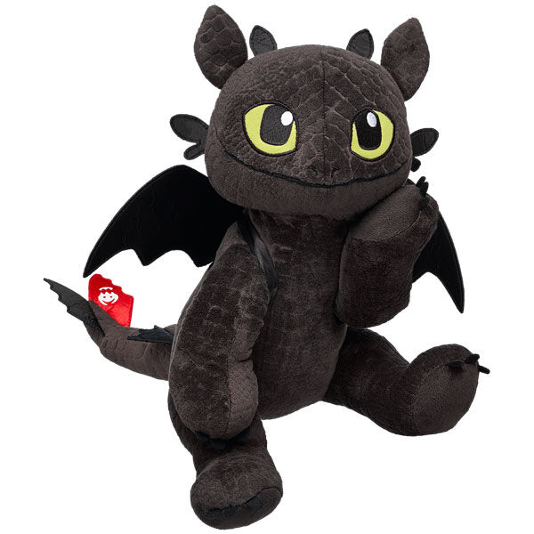 Toothless, from DreamWorks How to Train Your Dragon 2, is a loyal and loving dragon. He'll fly right into your heart!  Personalise him with clothing and accessories to make the perfect unique gift.DREAMWORKS DRAGONS © 2014 DREAMWORKS ANIMATION L.L.C.