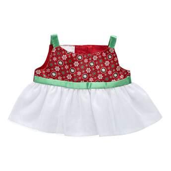 Red & Green Snowflake Dress - Build-A-Bear Workshop®