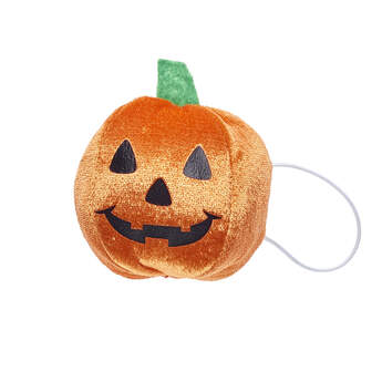 Your furry friend will be all set for trick-or-treating with this cute Halloween wrist accessory! This jack-o'-lantern wristie attaches to your furry friend's paw for the perfect Halloween look. Get your scare on and add this plush toy wristie for a ghoulishly fun Halloween gift!