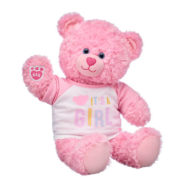 Pink Cuddles Teddy It's a Girl Gift Set, , hi-res