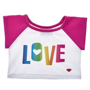 Love in every colour of the rainbow with this Rainbow Love Stuffed Animal T-Shirt! Shop for unique stuffed animal clothing & accessories at Build-A-Bear.