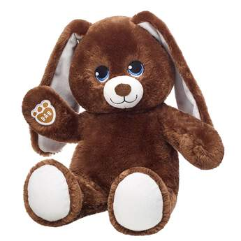 Online exclusive! Sweet Mocha Bunny features soft brown ears and paw pads. For an Easter egg hunt or anytime adventure, this stuffed bunny is ready to play! Make your own Easter fun at Build-A-Bear Workshop! Customize your furry friend with unique clothing & accessories to make the perfect gift.