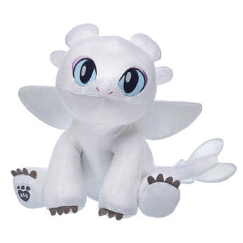 white light fury dragon stuffed animal from How to Train Your Dragon: The Hidden World