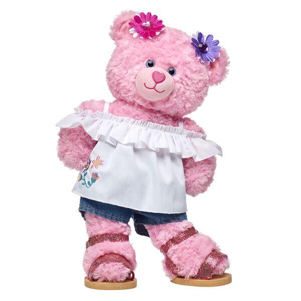 Pink Cuddles Teddy Spring Gift Set, , hi-res