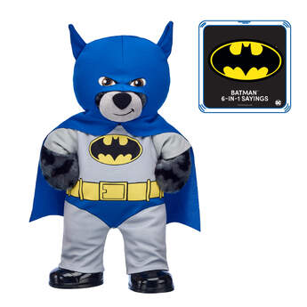 Classic 80th Anniversary Batman™ Bear with 6-in-1 Sayings, , hi-res