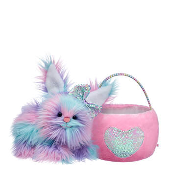 Fuzzy Bunny Flip Sequin Easter Basket Gift Set, , hi-res