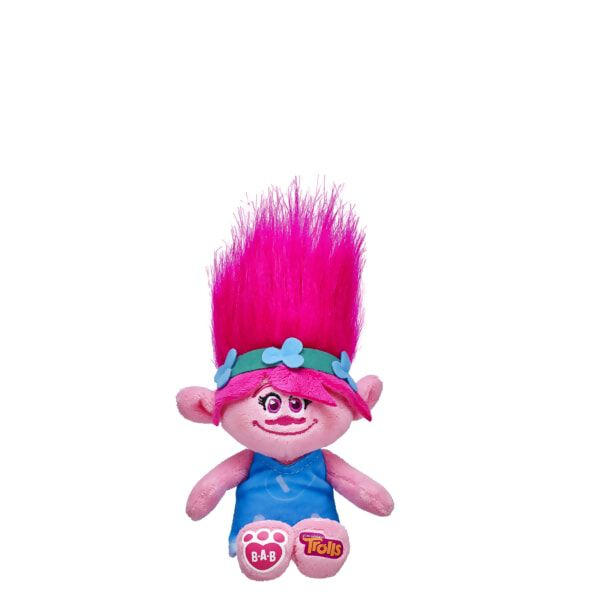 Hug time! Poppy from DreamWorks Trolls clips on to backpacks, belt loops or purses so you can take her wherever you go! Poppy has stylable pink hair with her flower headband, blue dress and the DreamWorks Trolls logo on one foot and the B-A-B logo on the other.DreamWorks Trolls © 2016 DreamWorks Animation LLC. All Rights Reserved.