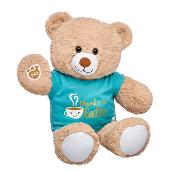 Online Exclusive Cuddly Brown Bear Thanks A Latte Gift Set, , hi-res