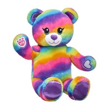Friends forever…stick together! Not only is Rainbow Friends Bear colorful as can be, but it has special paw pads so it can hold the paws of other Rainbow Friends animals. Outfit this furry friend online to make the perfect gift. Shop online or visit a store near you!