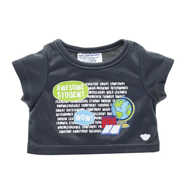 Celebrate the star student in your life with this Awesome Student tee! This black T-shirt features a fun graphic of a globe with books and motivational words. Whether it's a graduation or just a special accomplishment, a furry friend in this cute tee makes a perfect gift for any student!
