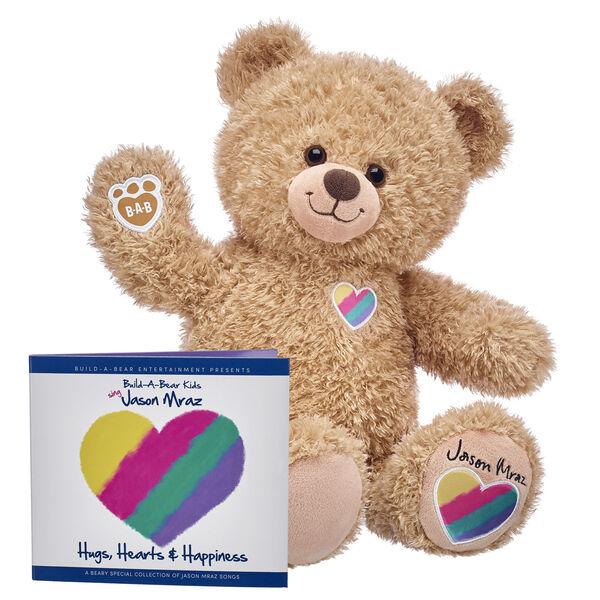 Hug Ambassador Jason Mraz teddy bear with CD bundle