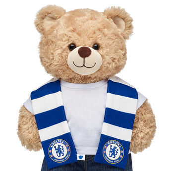 Go Chelsea! Football fans can root on their favourite club with this bear-sized scarf for their furry friend.