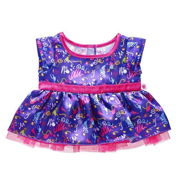 Pink & Purple Doodle Dress, , hi-res