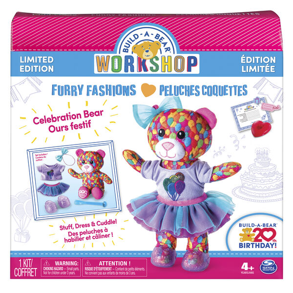 Online Exclusive Build-A-Bear Workshop®  Stuffing Station 20th Birthday Celebration Bear Refill Kit, , hi-res