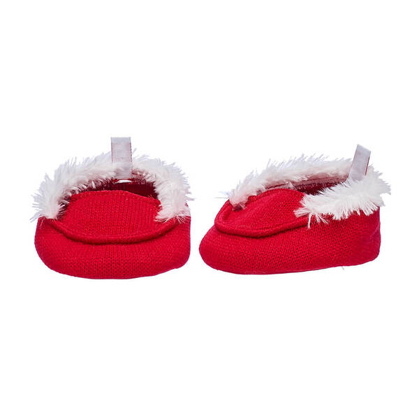 Red Knit Slippers - Build-A-Bear Workshop®