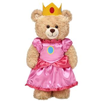 Our princess might be in another castle, but your furry friend will be positively peachy in your arms when dressed in this two-piece Princess Peach costume! ™ & © 2017 Nintendo.