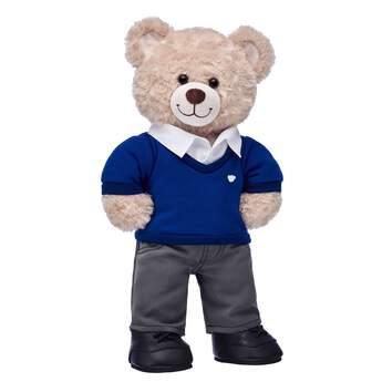Happy Hugs Teddy Blue School Uniform Gift Set, , hi-res