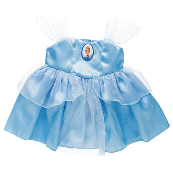 Dress your furry friend up as Princess Cinderella with the beautiful blue dress! The teddy bear size Cinderella Costume is a beautiful blue gown with a Princess Cinderella cameo.© Disney