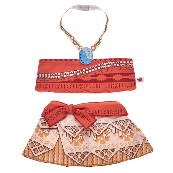 Your furry friend can set sail on an epic ocean adventure just like Vaiana with this three-piece costume! Inspired by her outfit in the film, this Disney Vaiana set includes a skirt, top and necklace. This island-style look is a perfect way to make your furry friend a brave explorer!