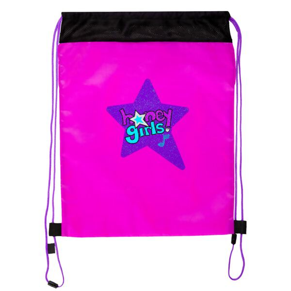 Honey Girls Purple Reusable Drawstring Backpack, , hi-res