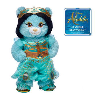 Deluxe Disney Jasmine Inspired Bear ''A Whole New World'' Gift Set, , hi-res