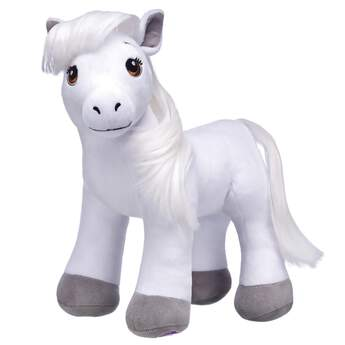 With intelligence, grace and strength, the Horses & Hearts Riding Club Grey Arabian Plush is known for being an excellent breed for riding & competing.